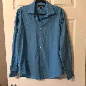 Nicole Miller Button Down Oxford Shirt Large